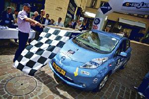 Nissan GreenSource Team Holland startet mit Bridgestone Ecopia bei der e-Miglia-Rallye