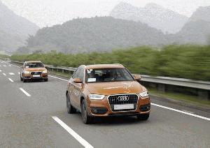 Goldener Apfel für Audi Q3 Trans China Tour