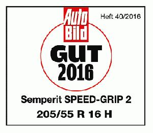 "AutoBild benotet Speed-Grip 2 von Semperit mit ""gut"""