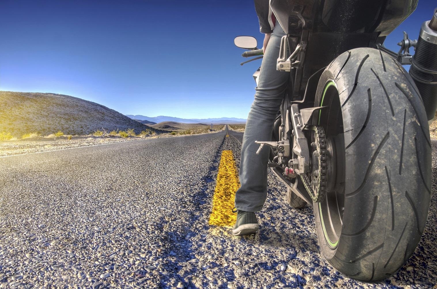 Motorrad im Frühling