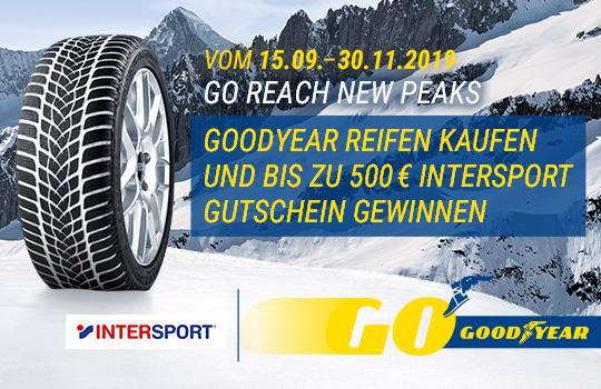 Goodyear Intersport Gutscheine gewinnen!