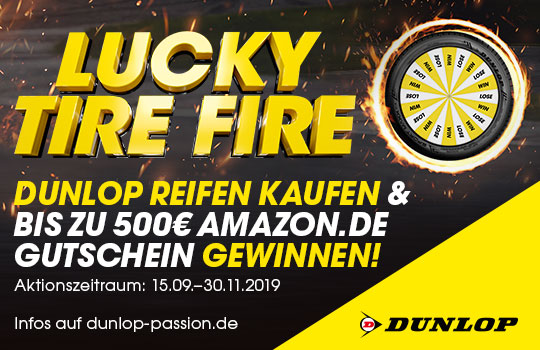 Dunlop - Lucky Tire Fire