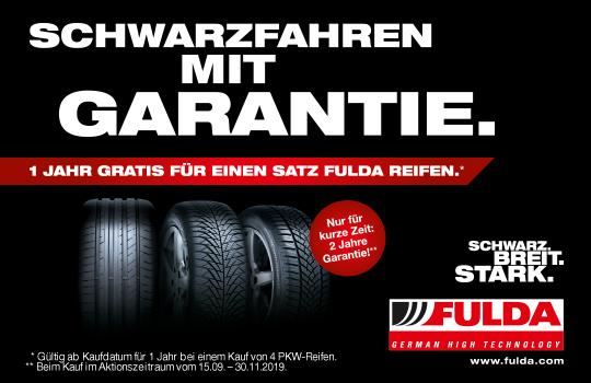Fulda Reifen kaufen und 1 Jahr Garantie gratis bekommen!