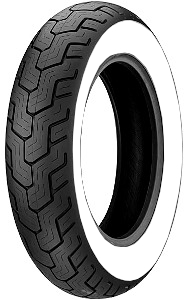 Dunlop D 404 WWW ( 150/80B16 TT 71H lateral blanco, M/C, Rueda trasera )