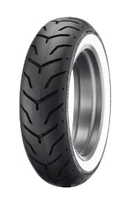 Pneu Dunlop D 407 H/D WWW ( 180/65B16 TL 81H roue arrière, M/C, Flanc blanc )