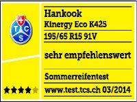 hankook kinergy eco k425 195 65 15 91 v. Black Bedroom Furniture Sets. Home Design Ideas