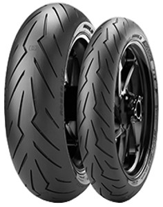 Pirelli Diablo Rosso III Front ( 120/70 ZR17 TL (58W) Rueda delantera, M/C )